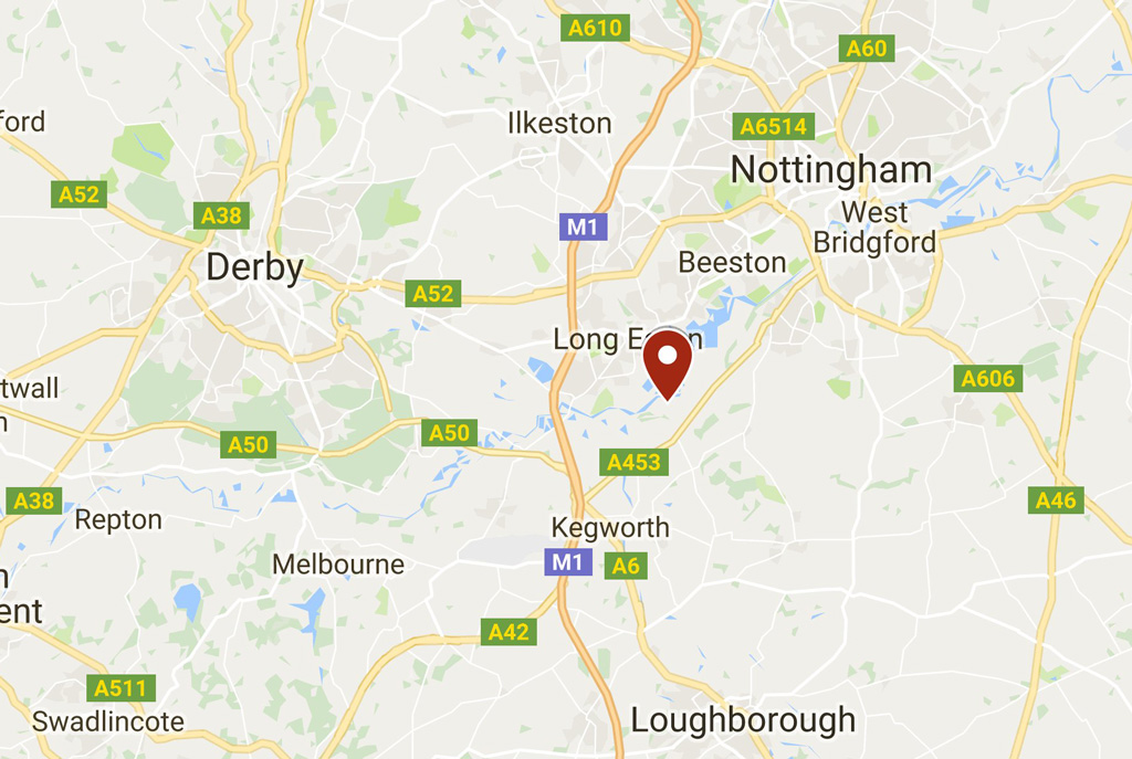 wedding venue nottingham map