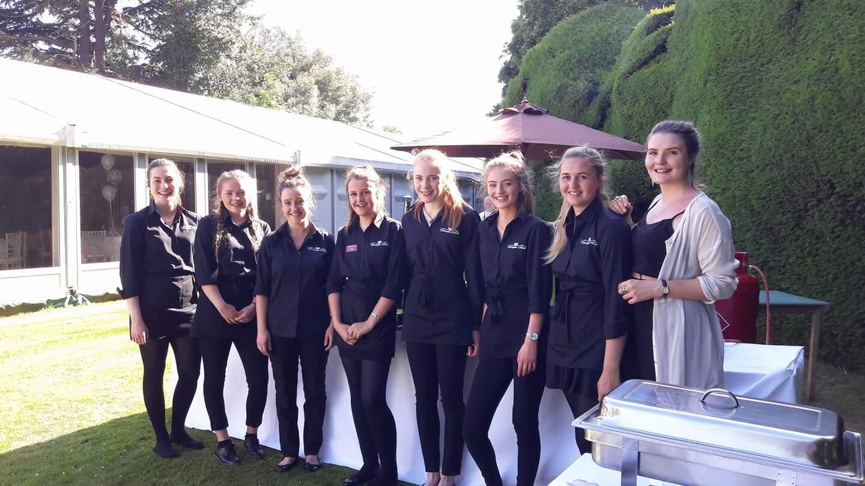 wedding venue service staff