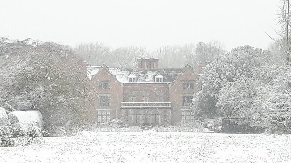 Snow at the hall